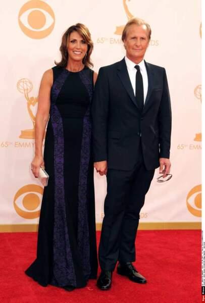 Jeff Daniels a quitté sa Newsroom le temps d'une soirée, avec sa femme Kathleen Rosemary Treado
