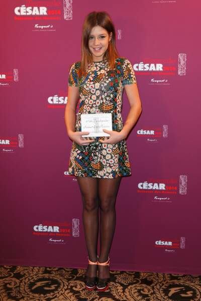 Adèle Exarchopoulos - catégorie meilleur espoir féminin pour La Vie d'Adèle