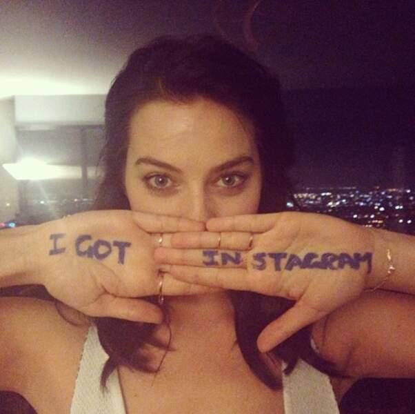 Margot a une grande nouvelle : elle a Instagram !