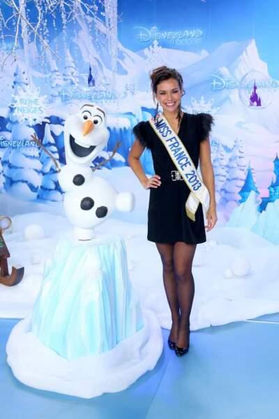 Miss France 2013 et Olaf, la star de La Reine des Neiges