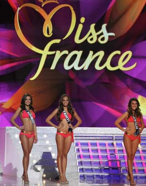 Miss Bourgogne, Miss Tahiti et Miss Nord-Pas-de-Calais
