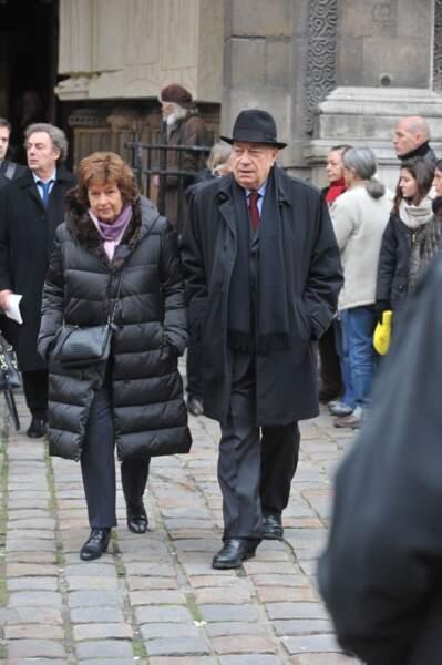 Michèle Cotta et Hervé Bourges.