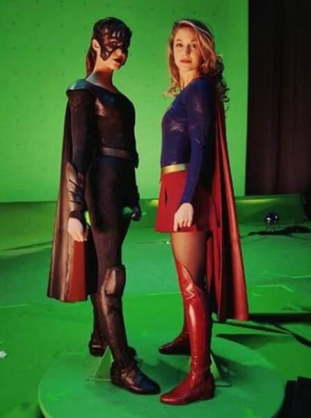 Melissa Benoist a dévoilé sur Instagram l'envers du décor de Supergirl.