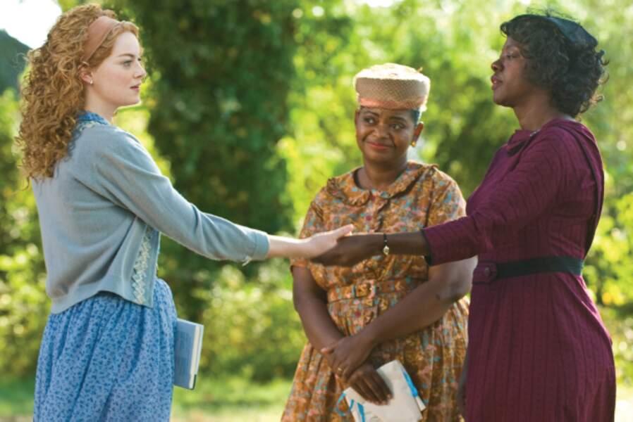 Elle y recueille les témoignages de domestiques, jouées par Octavia Spencer et Viola Davis