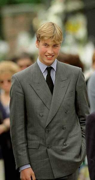 William grandit sous l'œil des caméras et de la presse (1997)