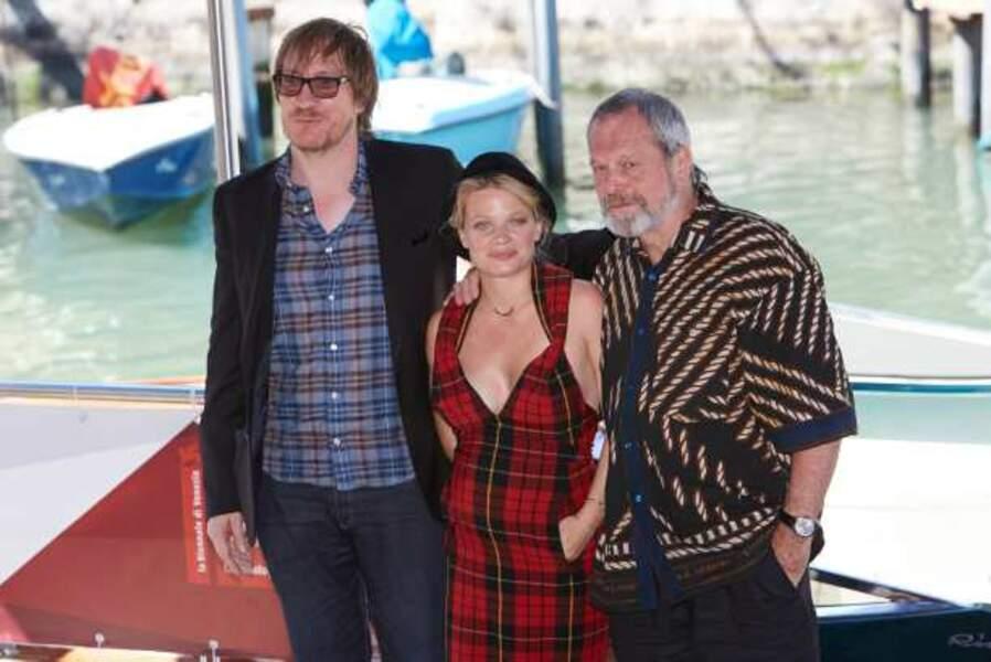 Mélanie Thierry, Terry Gilliam et David Thewlis arrivent pour le photocall de The Zero Theorem