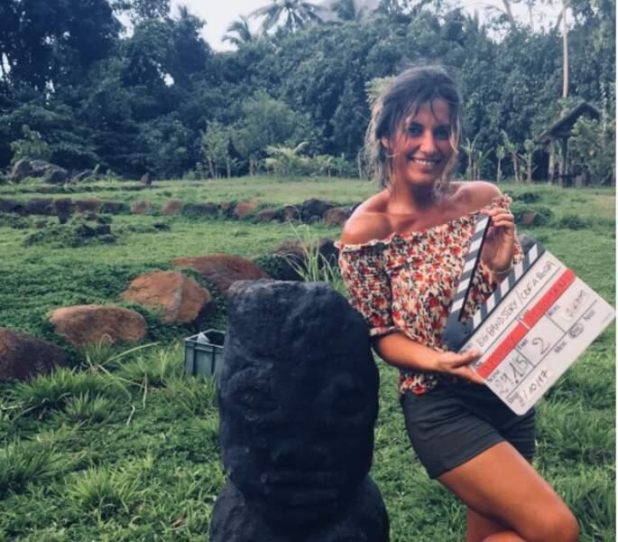 Clap de début de tournage de Coup de foudre à Bora Bora pour Laetitia Milot !