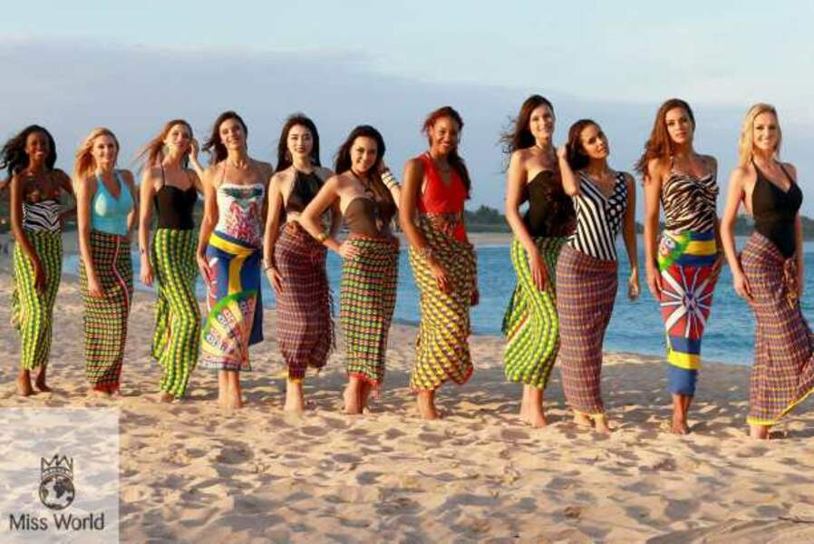 Les onze finalistes de Miss Beach Fashion