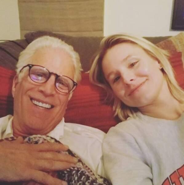 Ted Danson et Kristen Bel s'entendent à merveille sur le plateau de The Good Place
