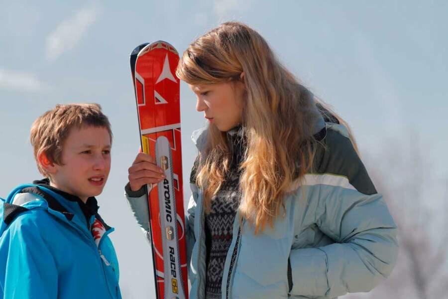 Au ski dans L'Enfant d'en haut (2012)