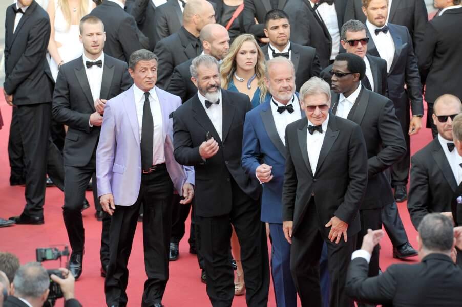 Sylvester Stallone, Mel Gibson, Ronda Rousey, Kelsey Grammer et Harrison Ford