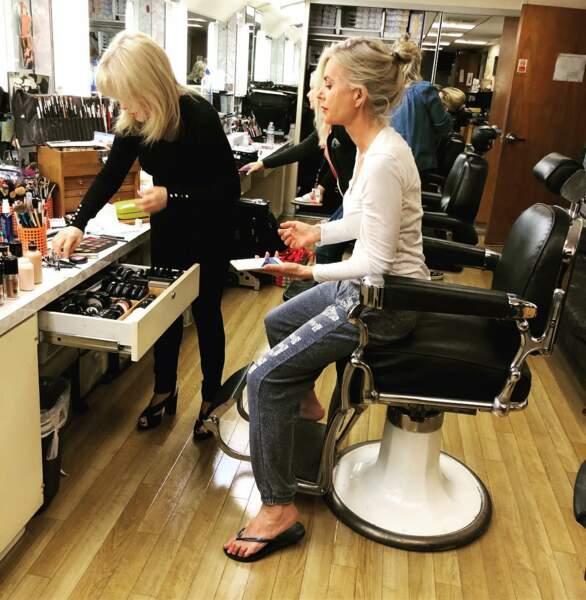 Eileen Davidson, star des Feux de l'amour, vit quant à elle sa dernière séance maquillage