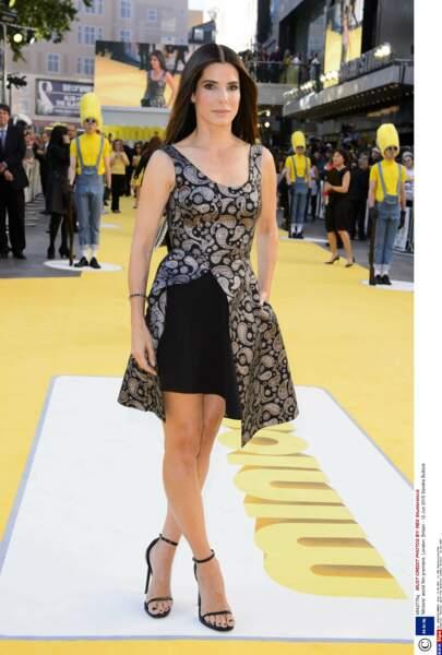 """Sandra Bullock à l'avant-première du film """"Les Minions"""" (juillet 2015)"""