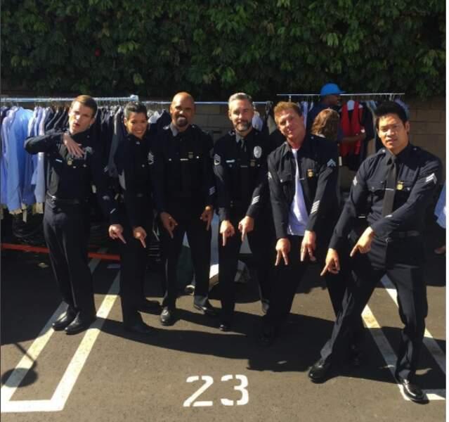 L'unité d'élite au grand complet pour reprendre le tournage de SWAT, la nouvelle série de Shemar Moore