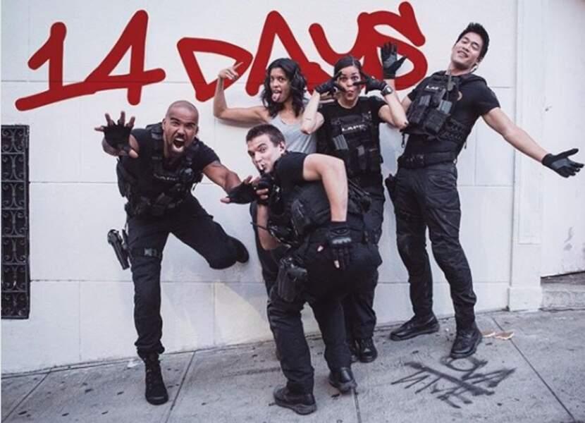 Shemar Moore et son équipe font les fous avant le lancement de S.W.A.T.