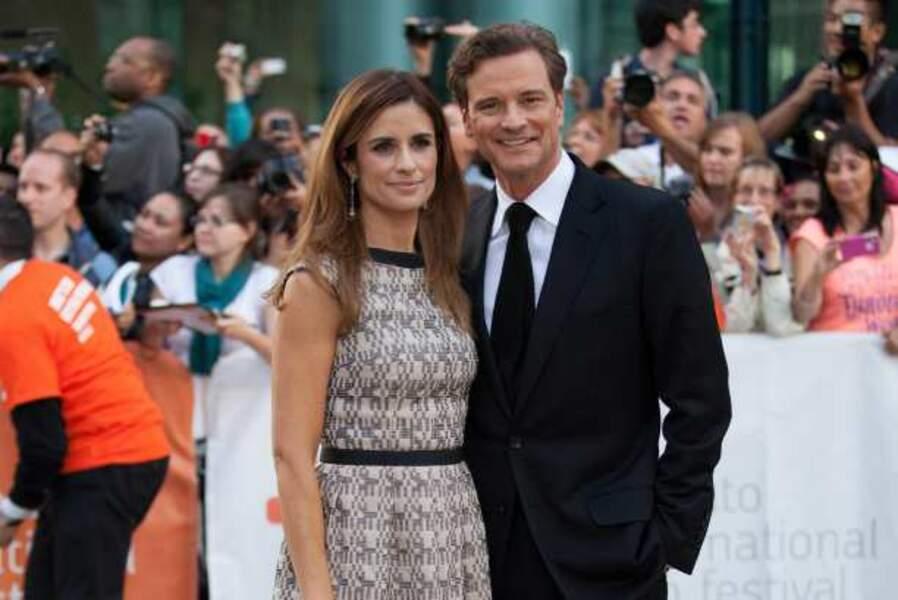Colin Firth et la productrice Livia Giuggioli