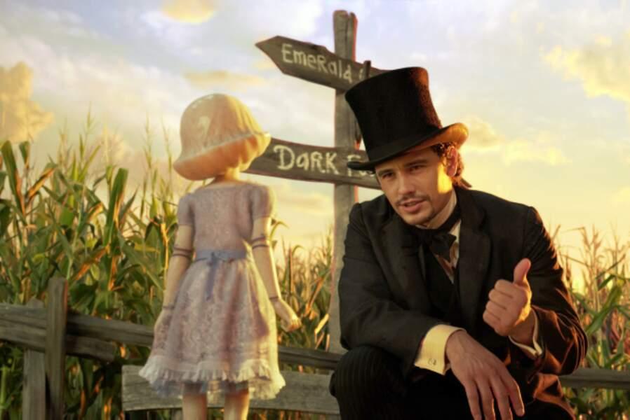 James Franco, magicien perdu dans Le Monde fantastique d'Oz de Sam Raimi (2013)