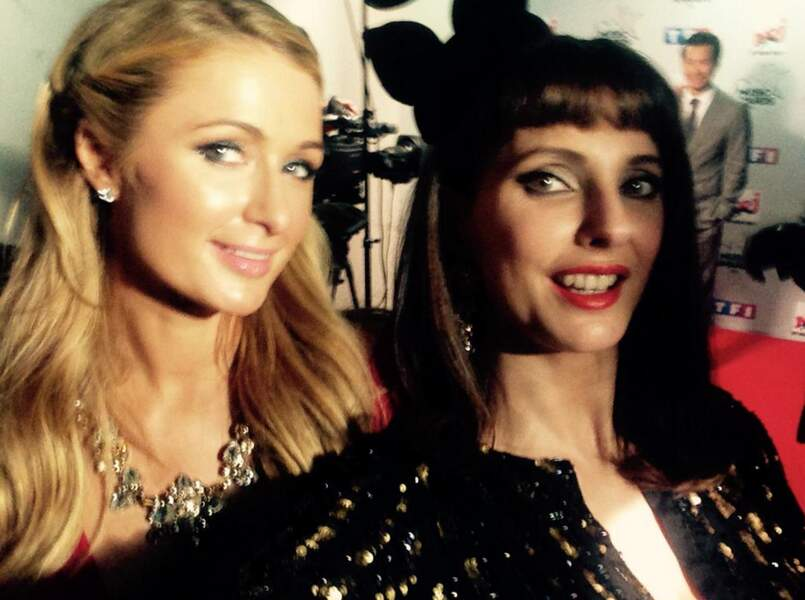 Puis avec Paris Hilton, durant les NRJ Music Awards