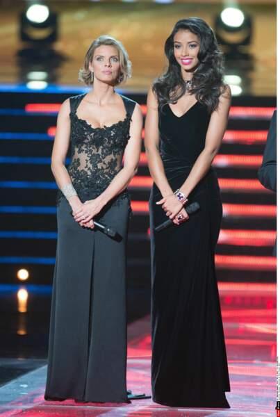 Sylvie Tellier et Flora Coquerel, Miss France 2014, peu avant le verdict