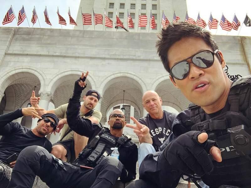 Shemar Moore et ses partenaires de S.W.A.T. s'éclatent sur le tournage