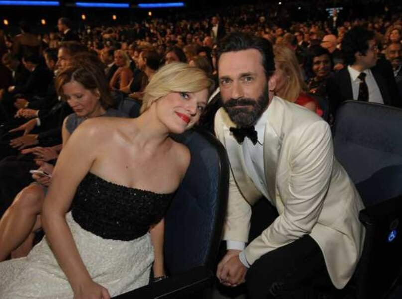 Elisabeth Moss et Jon Hamm, stars de Mad Men