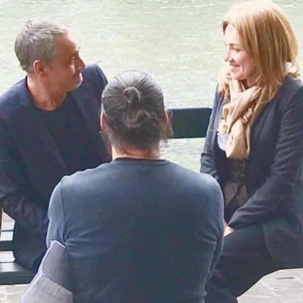 Jean-Michel Tinivelli et Marine Delterme plaisantent-ils à propos de la prochaine scène d'Alice Nevers ?