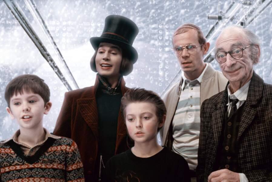 Charlie et la chocolaterie (2005) : Johnny Depp en Willy Wonka, avec ses invités
