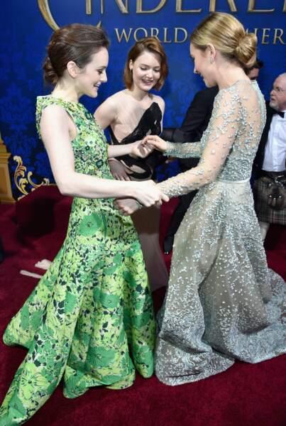 Lily James et Sophie McShera sont passées de Downton Abbey à Cendrillon