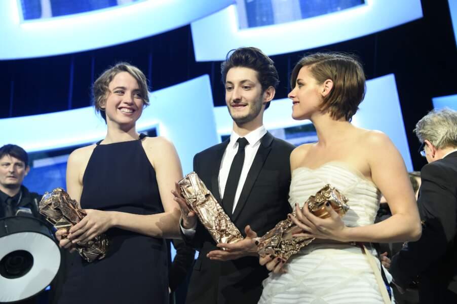 Adèle Haenel, Pierre Niney et Kristen Stewart, fiers de leurs César d'interprétation