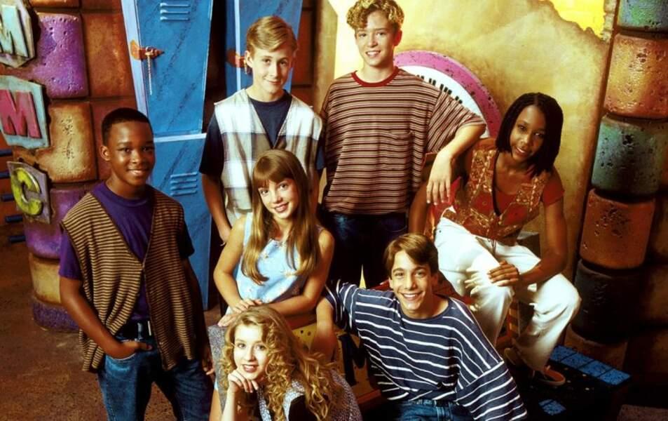 Justin Timberlake, Ryan Gosling, Christian Aguilera et Britney Spears au Mickey Mouse Club