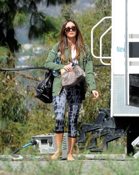 Megan Fox sur le tournage de New Girl ! C'est son premier jour.