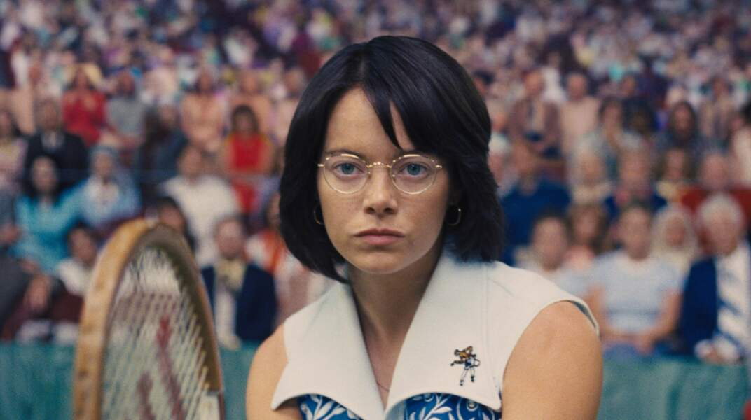 Elle incarne une joueuse de tennis qui se bat pour les droits des femmes dans ce sport dans Battle of the Sexes