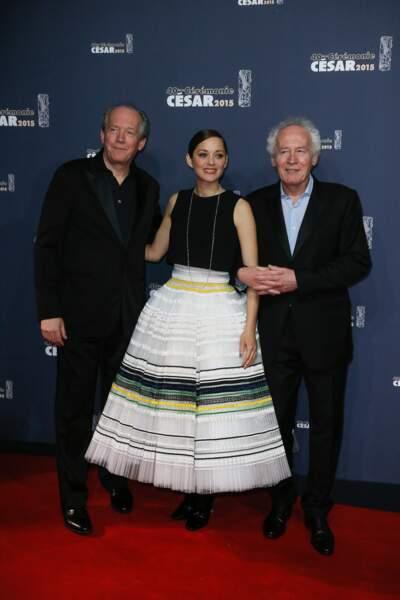 Marion Cotillard, ici avec les frères Dardenne, n'a pas remporté le César de la meilleure actrice…
