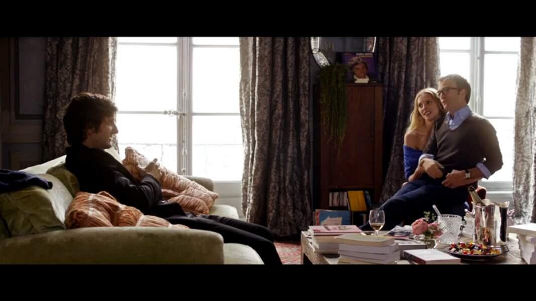 Couple libertin avec Jonathan Lambert dans L'Amour dure trois ans (2011)