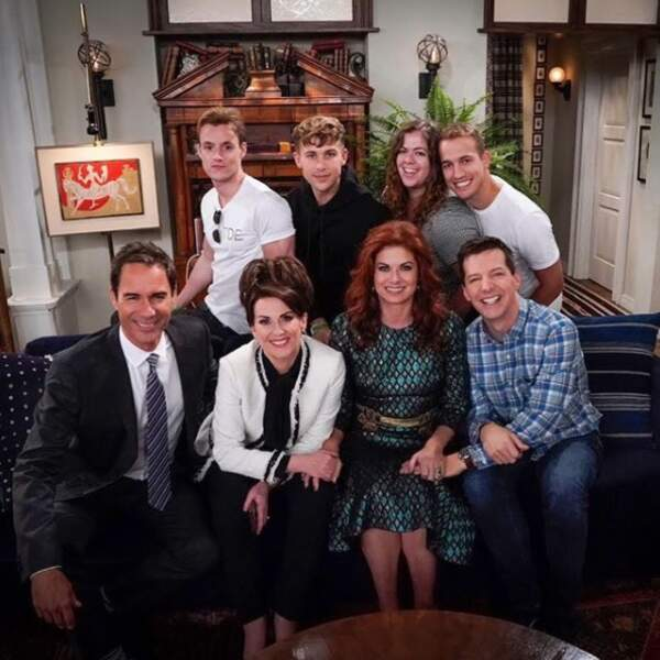 Le cast de Will & Grace a reçu de la visite sur le tournage...