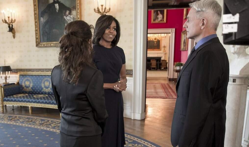 Le temps d'un épisode de NCIS, Gibbs donnera la réplique à une guest de premier choix : Michelle Obama !!