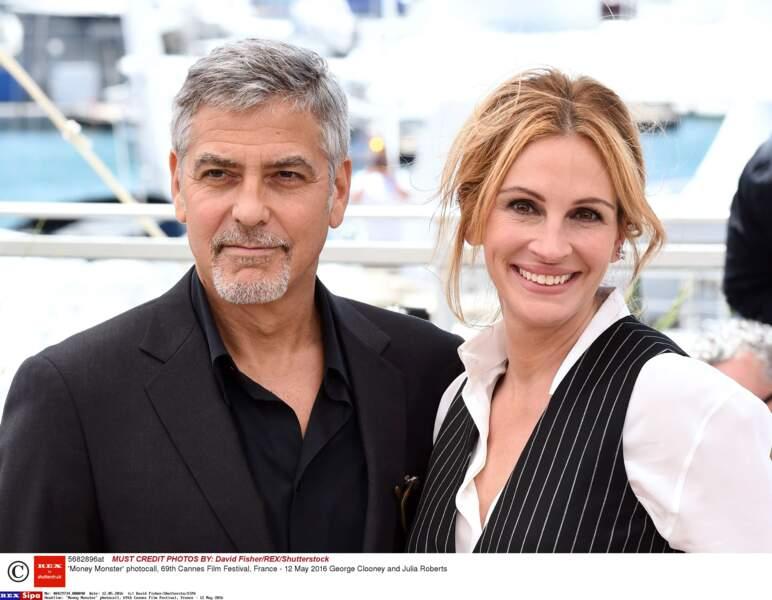 Les deux copains sont même mari et femme dans Money monster