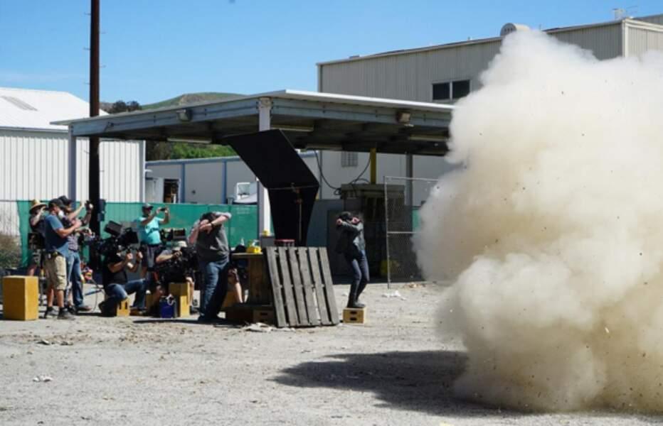 …et le tournage s'avère tout simplement explosif !