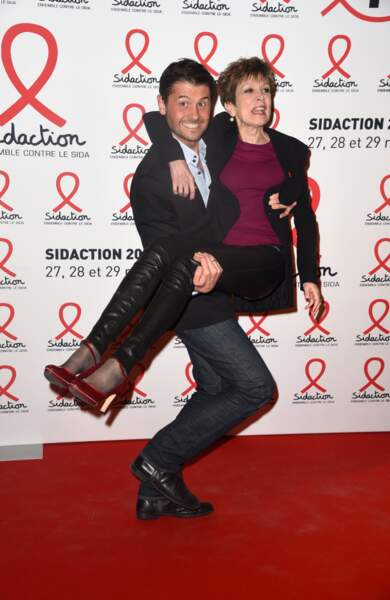 Christophe Beaugrand et Catherine Laborde s'amusent
