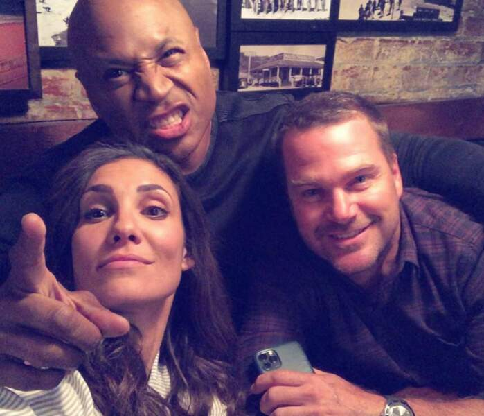 Daniela Ruah et ses complices de NCIS : Los Angeles : Chris O'Donnell et LL Cool J