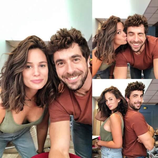 Entre deux prises de Clem, Agustin Galiana enseigne l'art du selfie à Lucie Lucas
