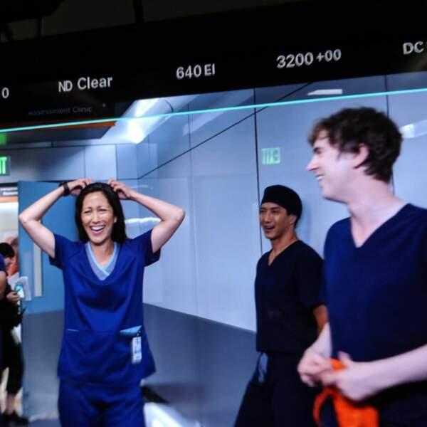 La bonne humeur semble être de mise sur le tournage de Good Doctor