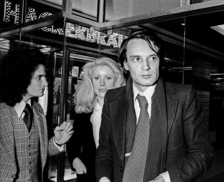 Elle entame une relation avec son agent Bertrand De Labbey (ici en 1974)