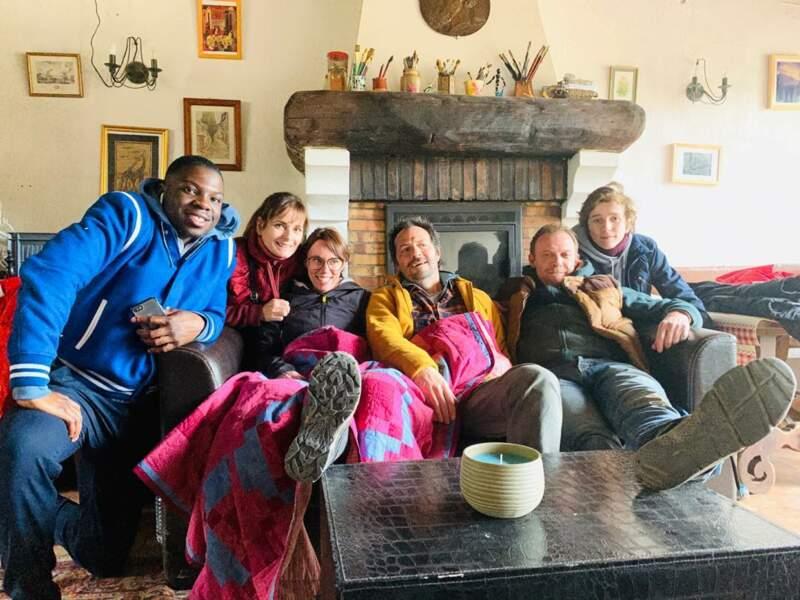 Cecilia Hornus, alias Blanche, en pleine forme avec ses collègues sur le tournage du prochain prime de Plus belle la vie