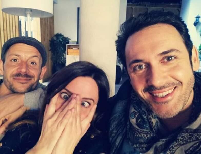 Anne Décis et Emanuele Giorgi savent mettre l'ambiance entre deux tournages !