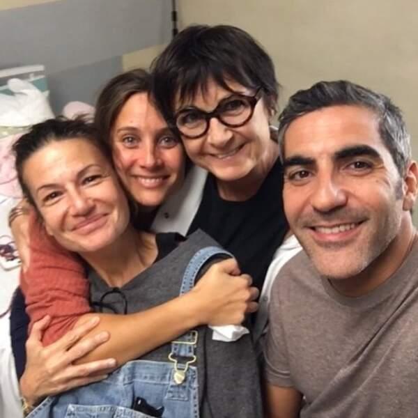 Comme un père (M6) : Belle complicité pour Julie de Bona, Ary Abittan et l'équipe du téléfilm