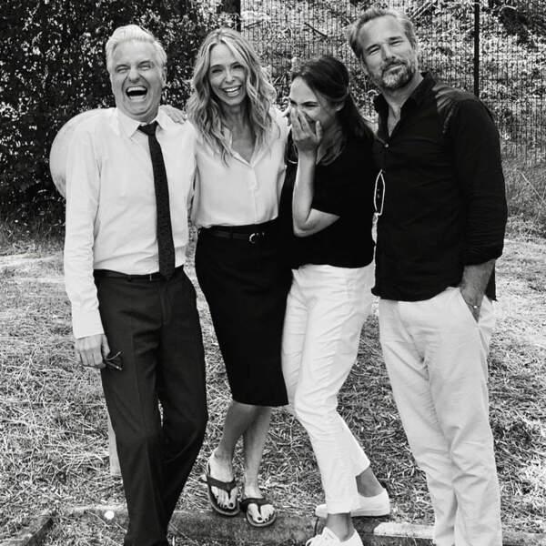 Mélanie Maudran, Tonya Kinzinger et leurs hommes rigolent bien sur le tournage d'Un si Grand Soleil (France 2)