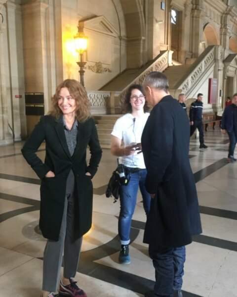 Marine Delterme se paie une petite visite au Palais de Justice sur Alice Nevers