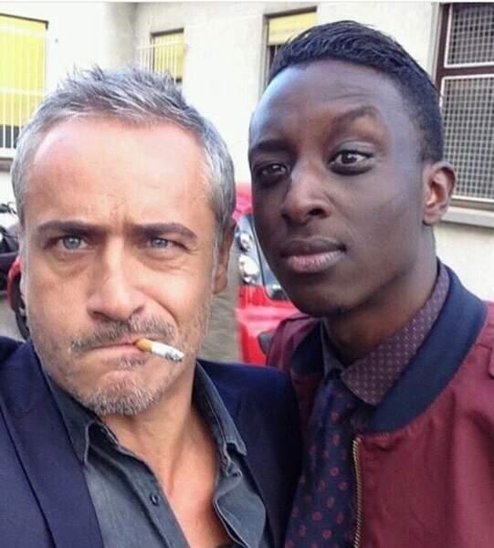 Jean-Michel Tinivelli et Ahmed Sylla complices sur le tournage d'Alice Nervers
