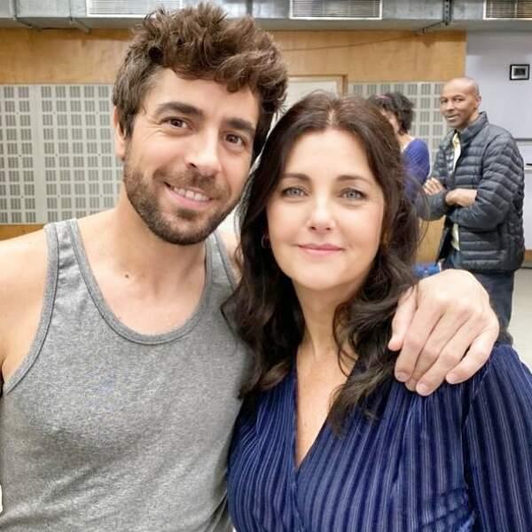 Agustin Galiana est ravi d'accueillir sa nouvelle partenaire, Cristiana Reali, sur le tournage de la saison 10 de Clem